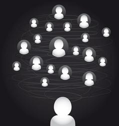 social media connection stock vector image