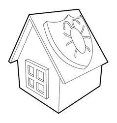 Disinfection house icon outline style vector