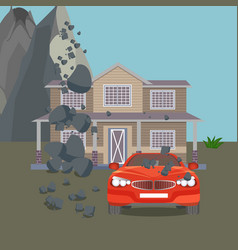 Flood realistic natural disaster vector