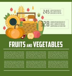 Fruits and vegetables template vector