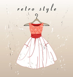 Retro dress vector