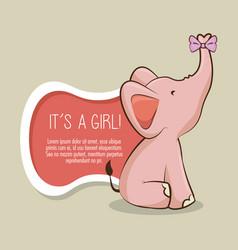 baby shower girl invitation card vector image