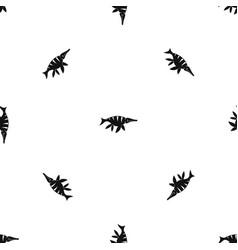 Aquatic dinosaur pattern seamless black vector