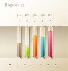 Infographic health graph design colorful vector
