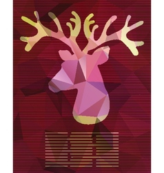 Abstract card with deer from triangles vector
