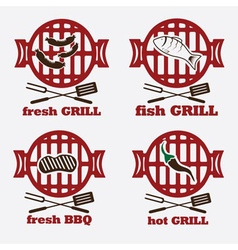 Bbq set and design elements vector