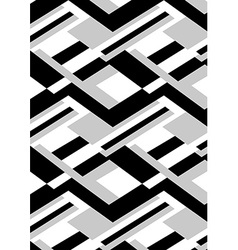 Block black and white repeat pattern vector