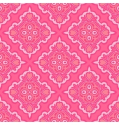 Cute pink seamless abstract tiled pattern vector
