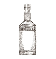 Liquor bottle sketch icon vector