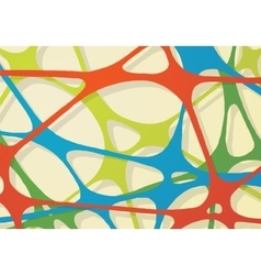 Abstract rubber band of network vector image