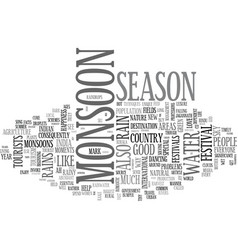 Ah monsoon season text word cloud concept vector