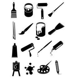 art painting icons set vector image