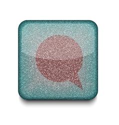 Bubble speech icon vector image vector image