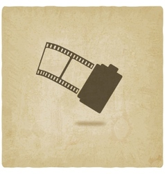 Camera film roll old background vector