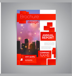 Commercial annual report template modern flyer vector