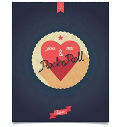 Design poster for valentines day vector image