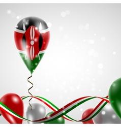 Flag of kenya on balloon vector