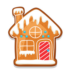 gingerbread cookies house of merry vector image