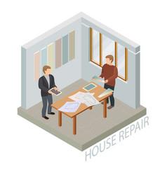 home repair isometric template designer and vector image