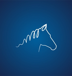 Horse over blue vector image vector image