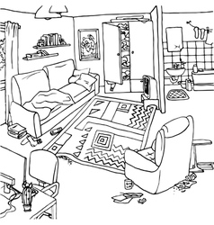 Interior with clutter vector
