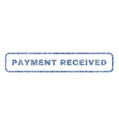 Payment received textile stamp vector