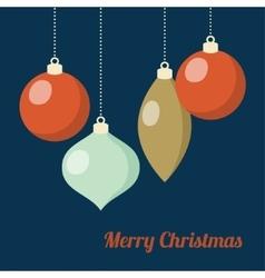 Retro Christmas greeting card invitation Hanging vector image vector image