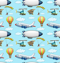 Seamless planes vector