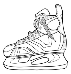 Sketch of hockey skates Skates to play hockey on vector image