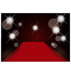 Sparkle Red Carpet Background vector image