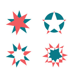 Star shapes set vector