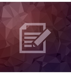 Taking notes in flat style icon vector