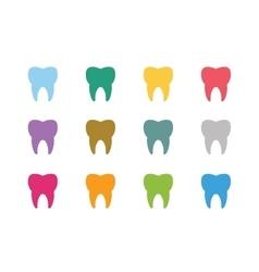 Tooth Icon logo set vector image