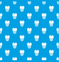 tooth implant pattern seamless blue vector image vector image