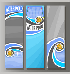 vertical banners for water polo vector image