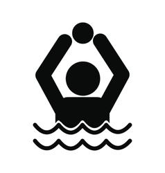 Water polo icon vector image vector image