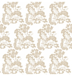 Vintage damask pattern flower ornament vector