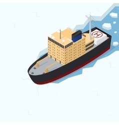 Icebreaker isometric view vector