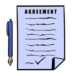 agreement icon icon cartoon vector image
