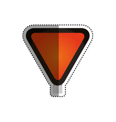 yield andstop sign blank vector image