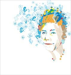 queen greetings vector image