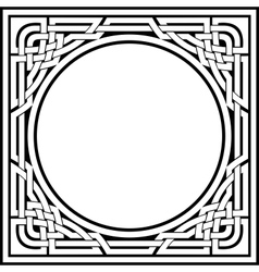 celtic frame vector image