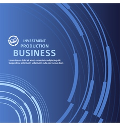 Presentation business background blue booklet vector