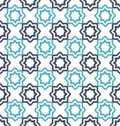 Seamless floral geometric pattern oriental vector