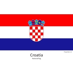 National flag of croatia with correct proportions vector