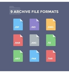 Archive file formats vector