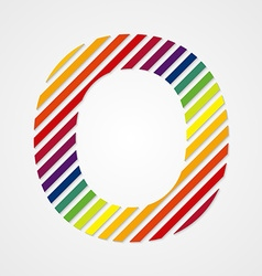 Alphabet Letter O vector image vector image