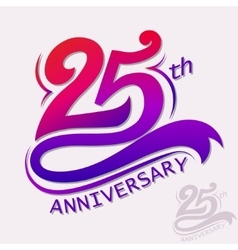 Anniversary design template celebration sign vector