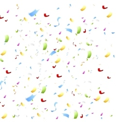 Bright shiny confetti on white background vector image
