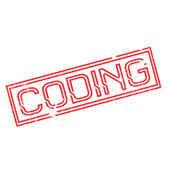 coding rubber stamp vector image